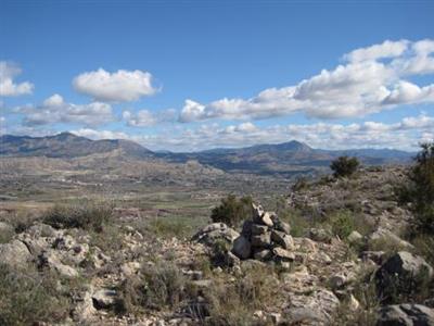 Hito de la cima de sierra Mediana